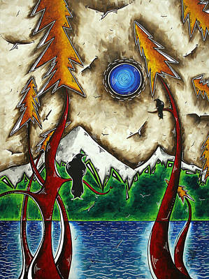 Guardians Of The Wild Original Madart Painting Art Print by Megan Duncanson
