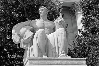The Price Is Right Photograph - Guardianship Statue At The National Archives -- Eternal Vigilance Is The Price Of Liberty -- 2 by Cora Wandel
