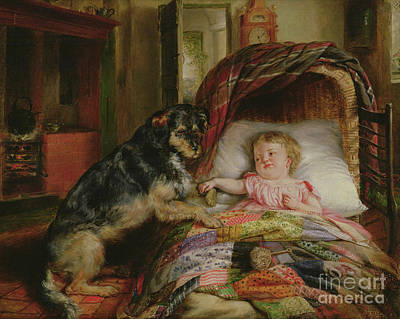 Painting - Guarding Baby by Edwin Frederick Holt