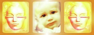 Mixed Media - Guarding  Baby by Hartmut Jager