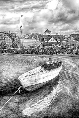 Muskegon Lighthouse Wall Art - Photograph - Guarding The Coast In Black And White by Debra and Dave Vanderlaan