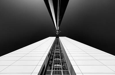 Blackandwhite Photograph - Guarding The Elevator Shaft by Michiel Hageman