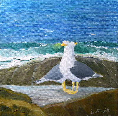 Guarding The Land And Sea Art Print