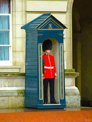 Buckingham Palace Digital Art - Guarding The Palace by Brian Shaw