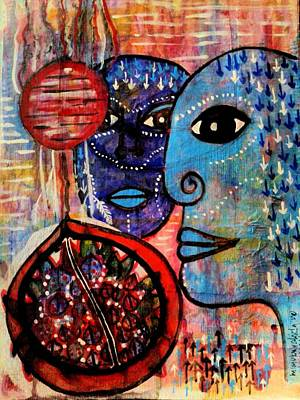 Guarding The Pomegranate Art Print by Mimulux patricia no No