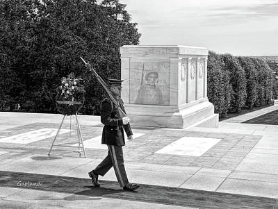 Walkway Digital Art - Guarding The Unknown Soldier by Garland Johnson