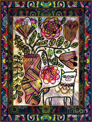 Montage Mixed Media - Guarding The Vase by Wbk