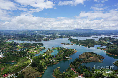 Guatape Photograph - Guatape, Antioquia Department, Colombia by Eyal Bartov