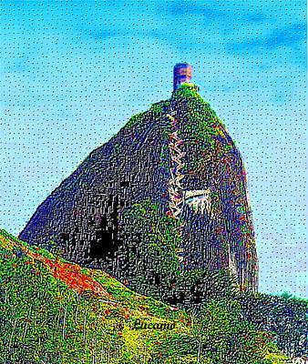 Guatape Digital Art - Guatape Rock by Luis Carlos Molina Acevedo