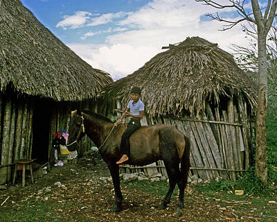 Photograph - Guatemala Boy On Horse by Gary Wonning