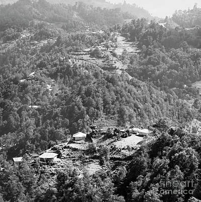 Photograph - Guatemala Landscape Rural Village Black And White by Tim Hester