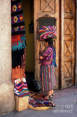 Photograph - Guatemala Maya Textile Vendor by John  Mitchell