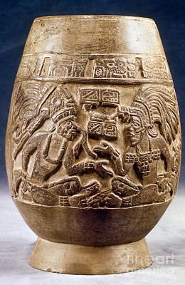 Photograph - Guatemala: Mayan Vase by Granger