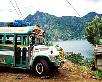 Panajachel Photograph - Guatemalan Chicken Bus by Trude Janssen