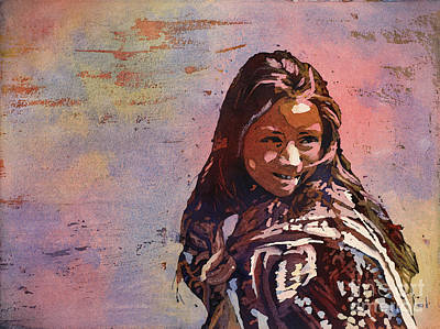 Central America Painting - Guatemalan Girl by Ryan Fox