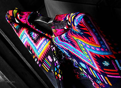 Photograph - Guatemalan Textile 1 by Xueling Zou