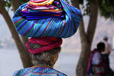 Panajachel Photograph - Guatemalan Traditional Crafts by Tatiana Travelways