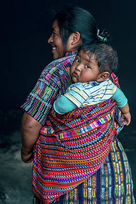 Painting - Guatemalan Woman With Baby by Judith Barath