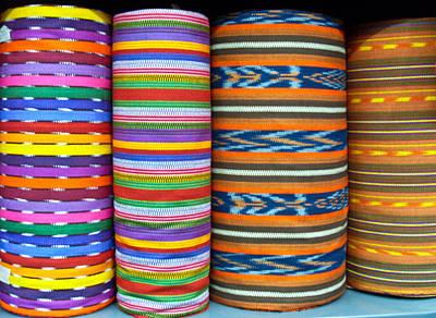 Photograph - Guatemalan Woven Fabric by Douglas Barnett