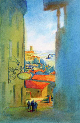 Gubbio Down The Hill Original by Virgil Carter