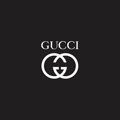 Noir Digital Art - Gucci - Black And White 02 by Alta Vita