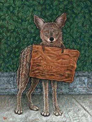 Painting - Gucci Coyote by Holly Wood