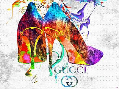 Gucci Shoes Grunge Art Print