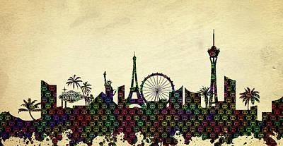 Digital Art - Gucci Vegas Skyline by Ricky Barnard