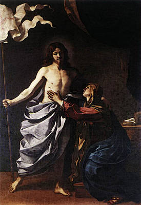 Resurrecting Digital Art - Guercino The Resurrected Christ Appears To The Virgin by Guercino