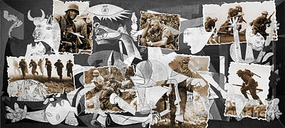 Guernica-collage Original by Daniela Constantinescu
