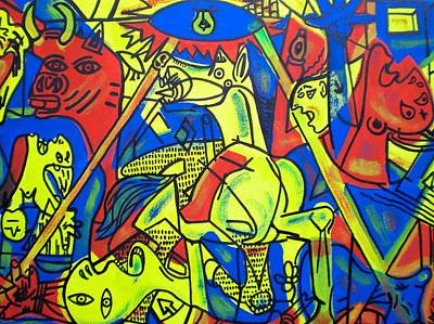 Abstract Painting - Guernica In Color by Leon Keay