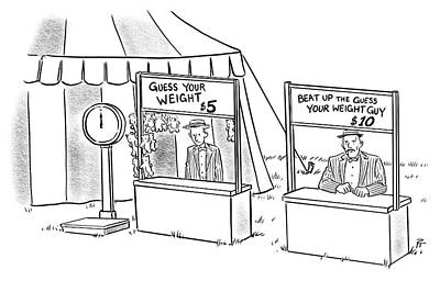 Amusement Park Drawing - Guess Your Weight by Pia Guerra