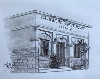 Drawing - Guest House  by Tony Clark