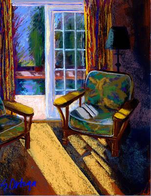 Guesthouse In Santa Fe Art Print by Sandra Ortega