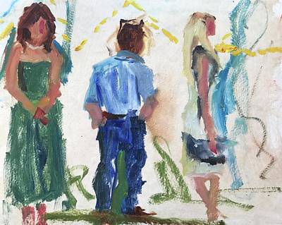 Painting - Guests 12 by Carol Berning