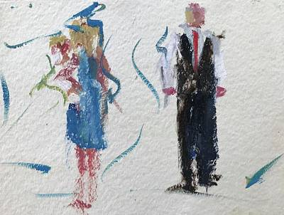 Painting - Guests 16 by Carol Berning