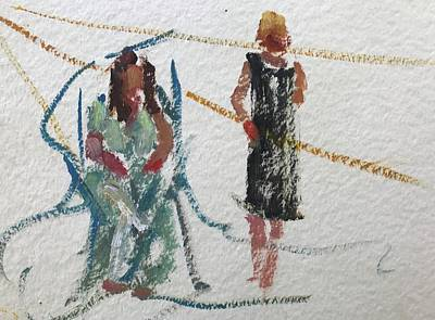 Painting - Guests 22 by Carol Berning