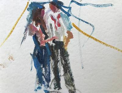 Painting - Guests 24 by Carol Berning