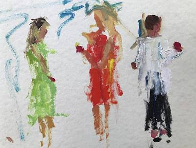 Painting - Guests 25 by Carol Berning