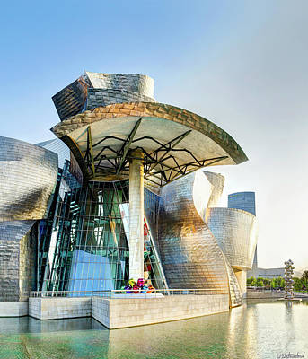 Photograph - Guggenheim Bilbao Vertical by Weston Westmoreland