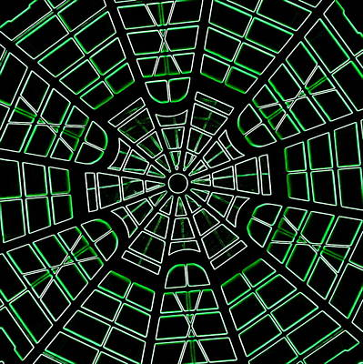 Photograph - Guggenheim Dome Neon Green by Karen J Shine