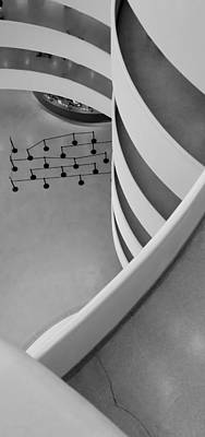 Photograph - Guggenheim Levels B W by Rob Hans