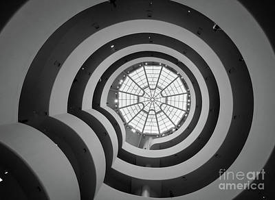 Staircase Photograph - Guggenheim Museum by Inge Johnsson