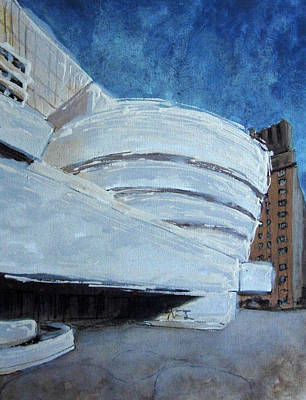 Frank Lloyd Wright Painting - Guggenheim Museum by Romina Diaz-Brarda