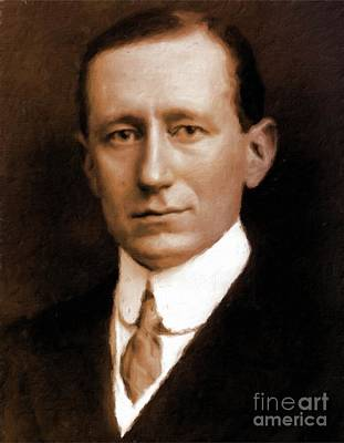 Inventors Painting - guglielmo Marconi, Inventor by Mary Bassett by Mary Bassett