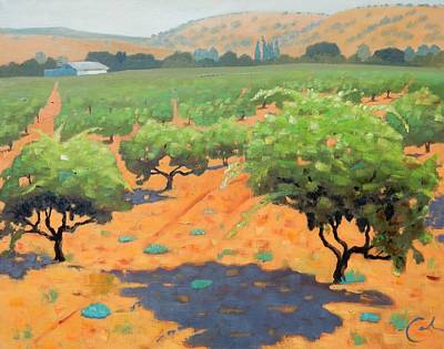 Guglielmo Winery Art Print by Gary Coleman