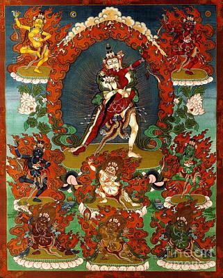 Painting - Guhya Sadhana Avalokiteshvara Gyalwa Gyatso  by Sergey Noskov