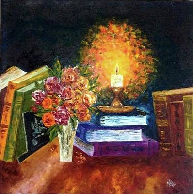 Candle Stand Painting - Guiding Light by Shilpi Singh