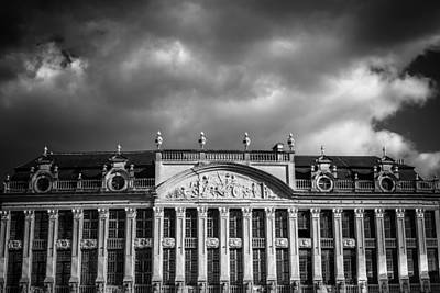 Brussels Photograph - Guild Houses Mono by Chris Fletcher