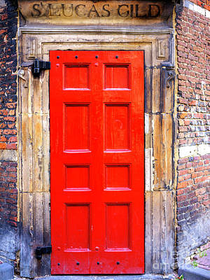 Photograph - Guild Of Saint Luke Red Door by John Rizzuto